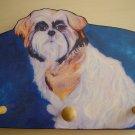 SHIH TZU tricolor dog shih-tzu Leash Holder - key Peg rack Holder handmade gifts