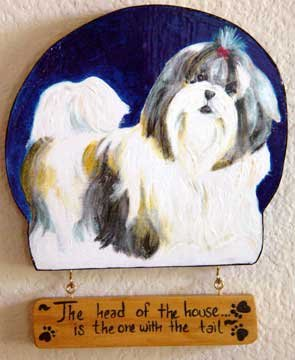 Shih Tzu TRI COLOR SHIH-TZU dog  Wood Sign Personalized doggy handmade plaque