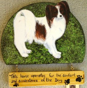 Papillon red white dog PAPILLON personalized custm Dog Wood Sign