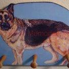 German Shepherd Wood leash key rack peg holder handmade decorative gifts