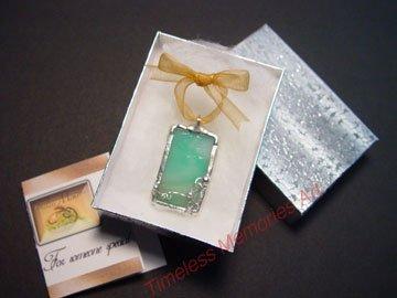 Pendant  Glass pendants necklace bracelet handmade ornate wire design Blue Sky soldered pendant