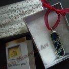 Pendant handmade glass flower  wire ornate soldered pendants