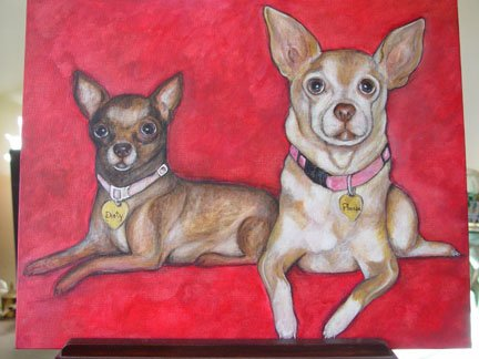 Pet Portrait Painting Acrylic Canvas Panel 11X 14 Commissioned pet painting