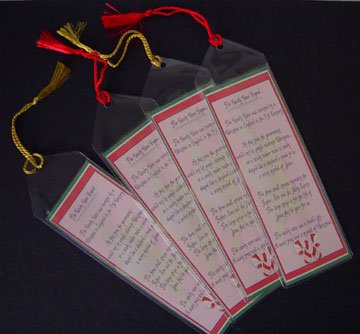 Candy Cane Legend Personalized bookmarkers Set of 4 Bookmark