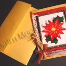 Handmade unique greeting card Poinsettia legend Christmas cards