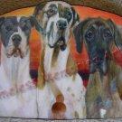Great Dane trio Dog Key Leash Rack Holder Gentle Giant doggies