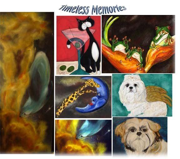 """Commissioned painting pet portrait painting 16"""" X 20"""" Acrylic on Large canvas panel"""