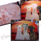 Commissioned Leash holder custom wood leash dog hanger pet painting