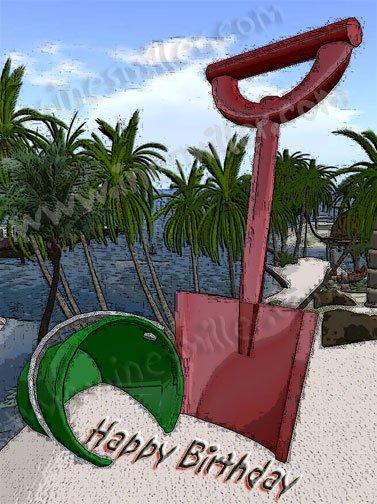 Summer tropical Beach  toys bucket & shovel custom sandwritting digital download file