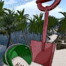 Summer tropical Beach  toys bucket & shovel custom sandwritting digital download file