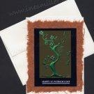 Greeting Card St. Patrick's Day Shamrock tree good luck clovers Handmade Card