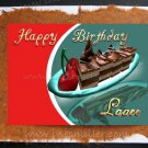 Lesbian- Gay Greeting Card LOVER Handmade cards Chocolate fudge cake cherry whimsical design