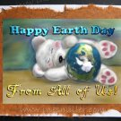FROM ALL OF US Happy Earth Day Greeting card Environment Awareness Handmade Card Teddy Bear