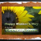 Greeting Card Happy Mother's Day GRANDMA Sunflower original Art Personalized cards