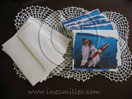 Papillon Dog notecards  portrait personalized custom cards gift set8  stylish boutique cards