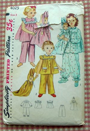 Retro Doll Pajama Bag Pattern TipNut.com | «my half of the brain