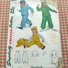 Girls Vintage 40s Snowsuit Simplicity 2630 Sewing Pattern