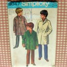 Trench Coat 70s vintage sewing pattern Simplicity 9047 Size 4