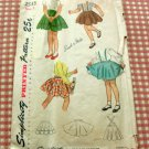 Poodle Skirt 40s vintage sewing pattern Size 3 Simplicity 2533