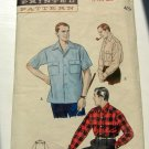 Mens Lumberjack Shirt Vintage 40s Sewing Pattern Butterick 6318