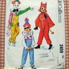 Kids Devil Costume McCalls 2459 Vintage Sewing Pattern Large