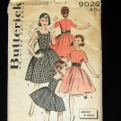 50s vintage sewing pattern girl's party dress Butterick 9022