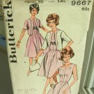 Vintage Sewing Pattern 50s  Dress and Cardigan Butterick 9667