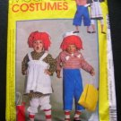 Raggedy Ann & Andy Costumes Sewing Pattern McCall's 9494 Grown-Ups Large