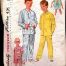 Boys Pajamas 50s vintage sewing pattern Simplicity 1434