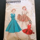 Girls Circle Skirt 50s vintage sewing pattern Butterick 7414