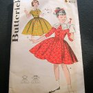 Girls 50s Dress vintage sewing pattern Butterick 9457