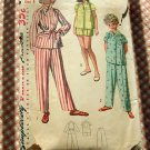 Girls Pajamas Simplicity 4131 vintage sewing pattern