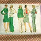 70s pants, jacket, skirt vintage sewing pattern Simplicity 6191
