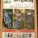 Girl's 90s Holiday Dress Sewing Pattern Simplicity 9839
