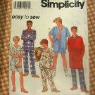 Boys Robe and Pajamas Vintage 90s Sewing Pattern Simplicity 8794