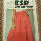Mock Wrap Skirt Vintage Sewing Pattern Simplicity 9027