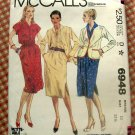 Jacket & Dress McCall's 6948 Vintage Sewing Pattern