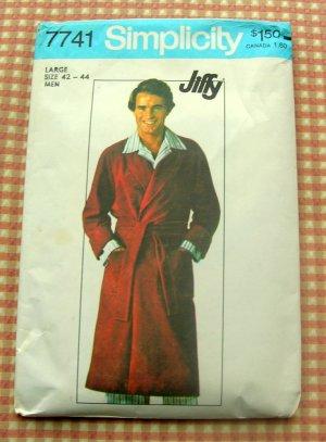 Mens robe vintage sewing pattern Simplicity 7741 large