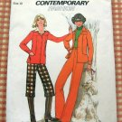 70s pants shirt vintage sewing pattern Simplicity 7797