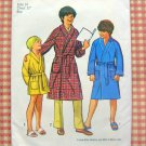 Boys Bathrobe vintage 70s sewing pattern Simplicity 9635 Size 14