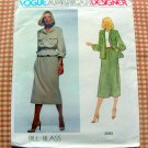70s Vintage Bill Blass Midi Skirt Jacket sewing pattern Vogue 2083