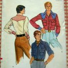 Men's Western Shirt Vogue 9443 vintage sewing pattern