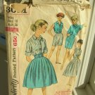 Rockabilly Blouse, Skirt, Shorts Vintage Sewing Pattern Simplicity 3051