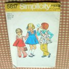 Girls Vintage Pinafore Dress Sewing Pattern Simplicity 5817