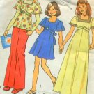 Girl's Dress or Top Vintage 70s Sewing Pattern Simplicity  6867