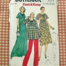 Maternity Maxi or Midi  Dress 70s Vintage Sewing Pattern Butterick 6192
