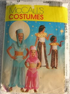 A & P Automotive >> Cleopatra and Genie Costumes McCall's Pattern 9451 Girls ...