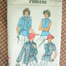 Vintage Vogue Sewing Pattern 9221 70s Blouses