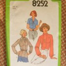 Simplicity 8252 Vintage 70s Sewing Pattern Blouse