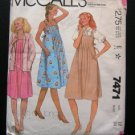 Maternity Midi Sundress Sewing Pattern Blouse and Jacket McCall's 7471